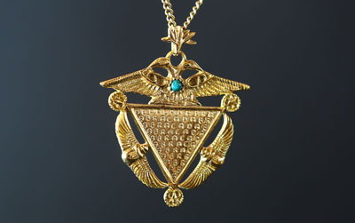 Telos Magic Abracadabra Amulet Pendant Front View