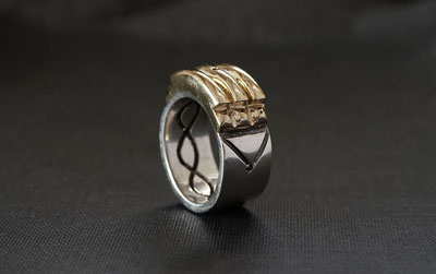 Telos Magic The Atlantis Ring Gold And Silver