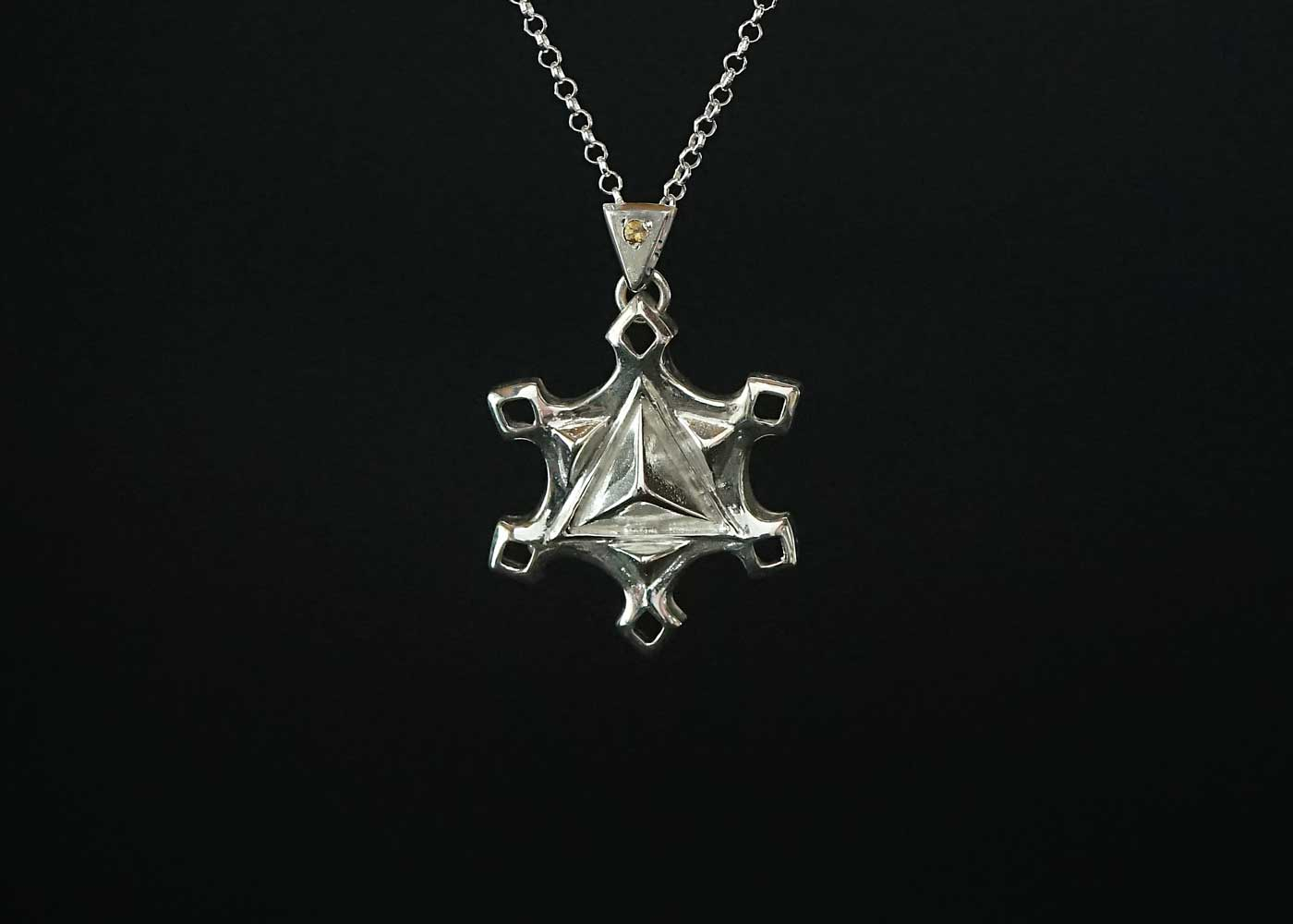 Telos Magic Jupiter Venus Talisman Silver Front Black View3