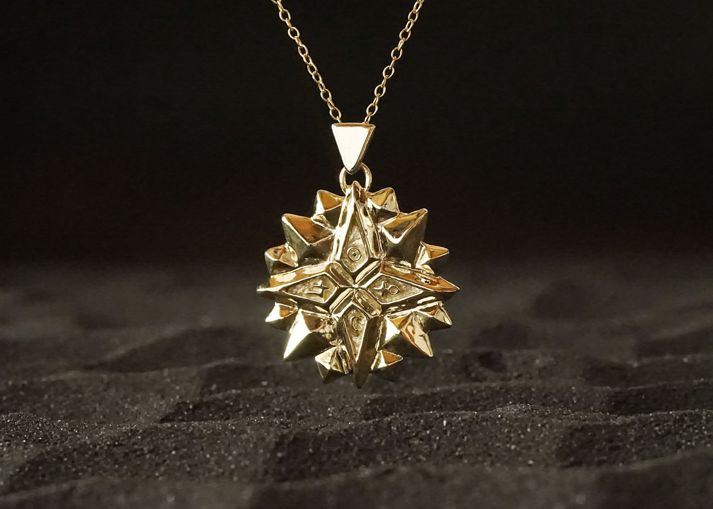 Telos Magic The Exaltation Talisman Gold Sand View