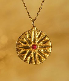 Telos Magic Sun Talisman Gold Front View