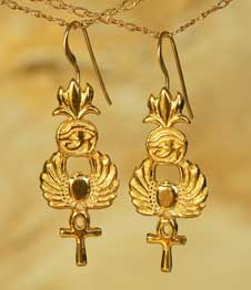 Telos Magic Egyptian Earing Gold Front