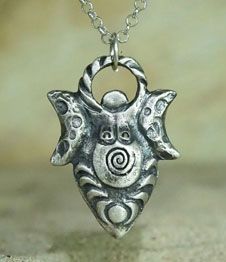 Telos Magic Moon Goddess Totem Silver