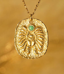 Telos Magic Egyptian Scarab Gld Front View