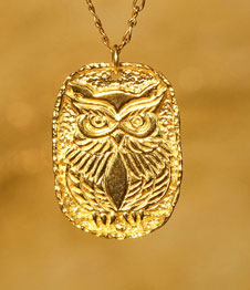 Telos Magic Shamanic Owl Gold Front