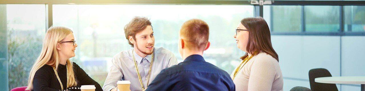AA Careers having a meeting