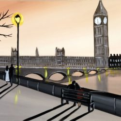 london river thames painting