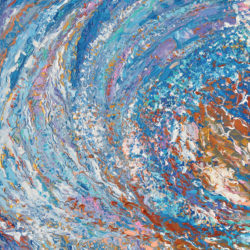 Crystal Wave, Original painting, modern impressionistic painting, one of a kind, palette knife, abstract seascape by adriana Dziuba