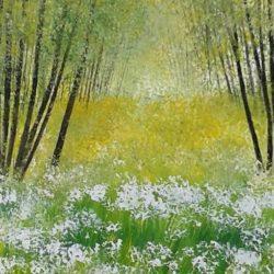 sissinghurst kent acrylic painting