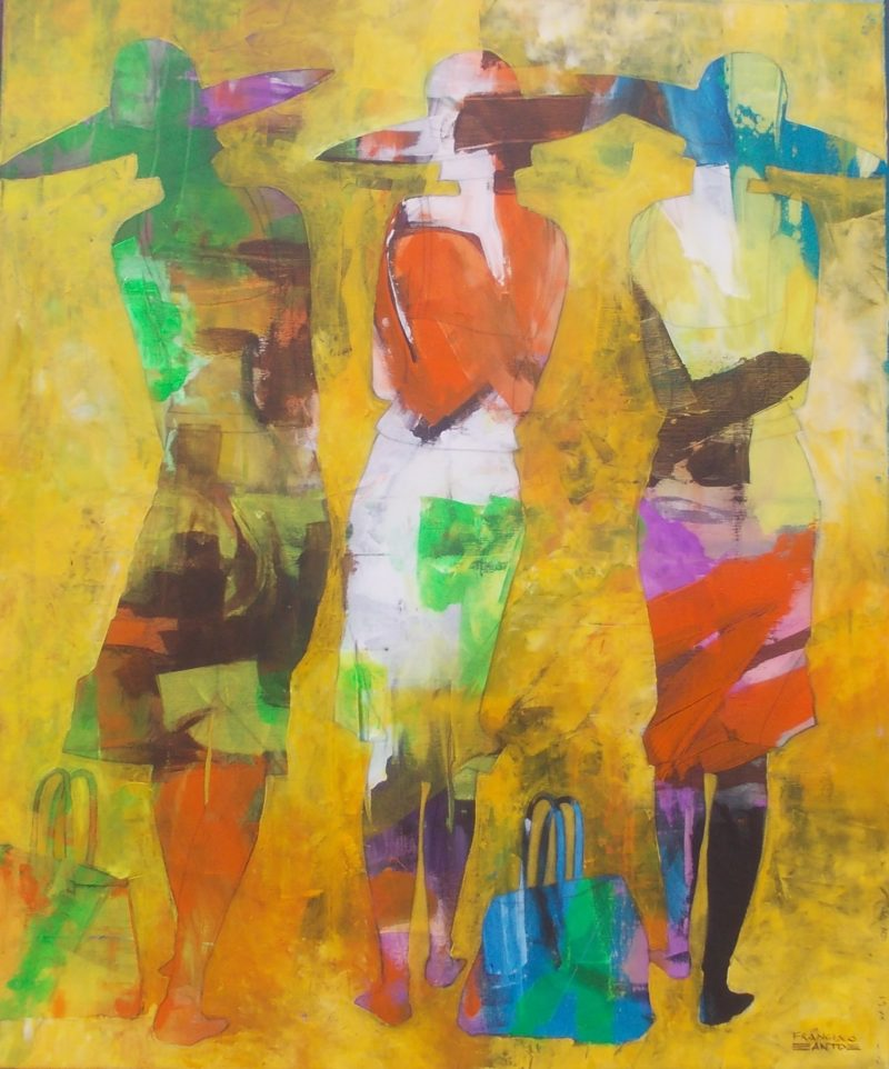 very large figurative painting on canvas