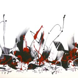 white red black abstract panting paresh nrshinga
