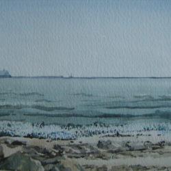 watercolour seascape scene for sale