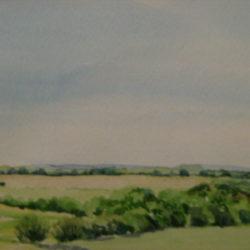 epsom downs original watercolour painting