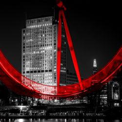 london eye at night photograph