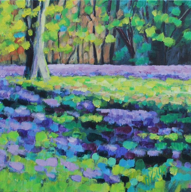 Lavender Fields (Framed) by michelle gibbs