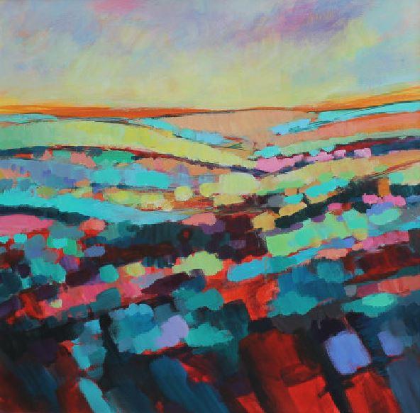 Sun over the Horizon (Framed) by michelle gibbs