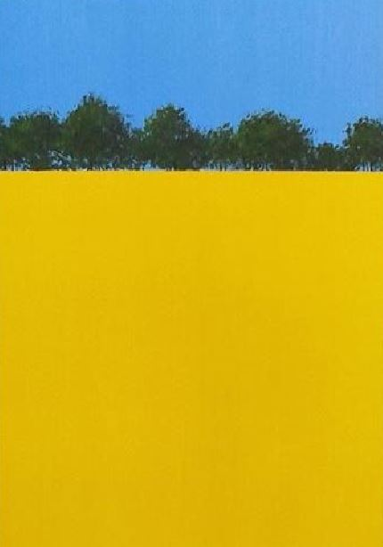 yellow rapeseed field painting hampshire