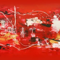 scarlet maze abstract painting paresh nrshinga