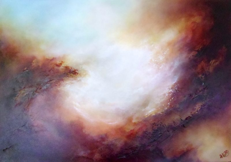 Large abstract painting by Gill Luff Ready to hang