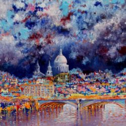 beauutiful london painting for sale
