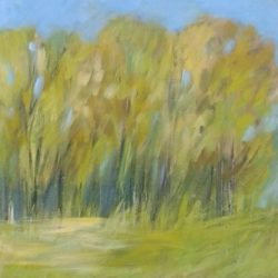 Summer Trees Painting Impressionistic Style