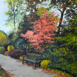 hampton court park original painting