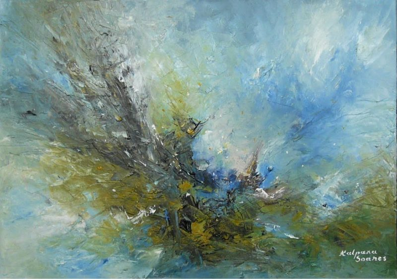 unrest abstract seascape by kalpana soanes
