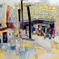 semi abstract london painting