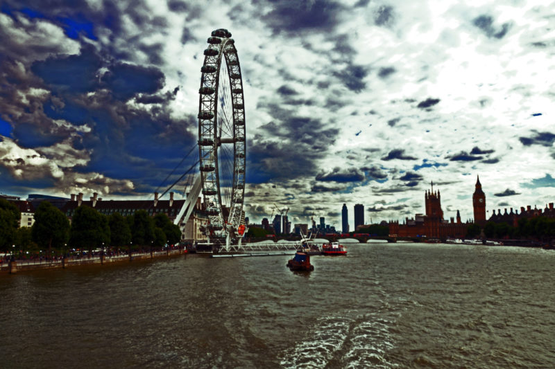 london eye and skyline photograph