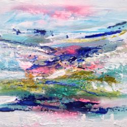 michelle carolan LARGE ABSTRACT PAINTING ON CANVAS
