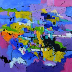 bold abstract oil painting