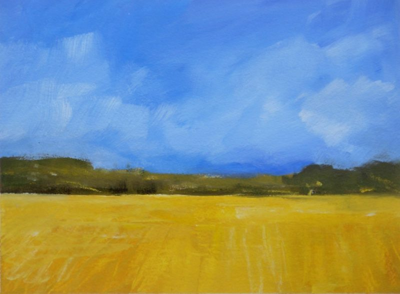 yellow wheatfields painting