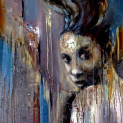 glance back original painting by alison johnson