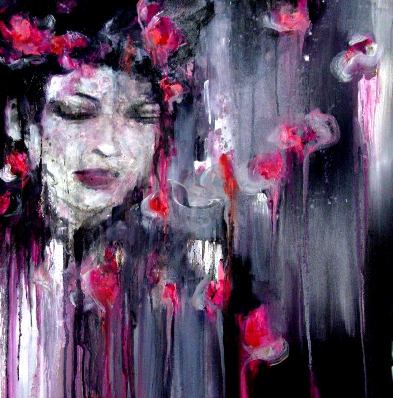 geisha memoirs original painting by artist alison johnson