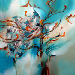 flying the branches original painting by artist alison johnson