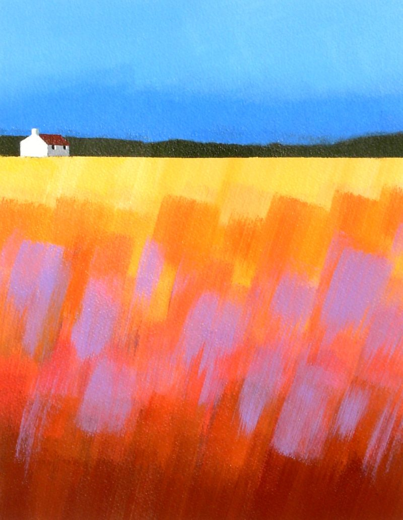 Abstract Painting of Highland Cottage