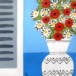 Floral, still life painting by Jan Rippingham