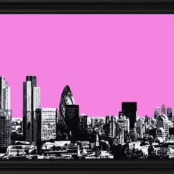 pink london sky painting