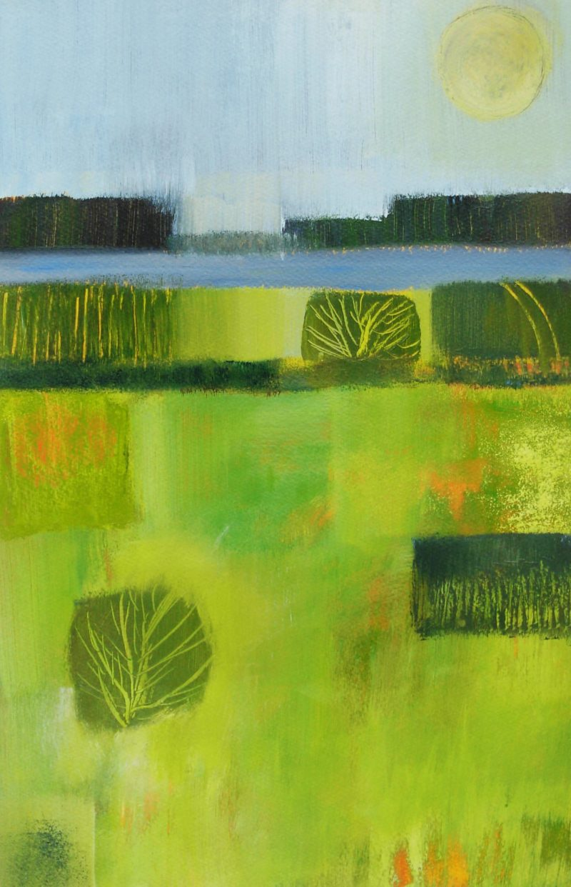 abstract landscape painting by Jan Rippingham