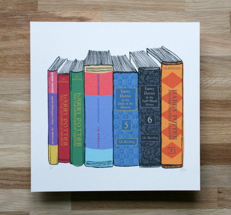 harry potter literary art print for sale