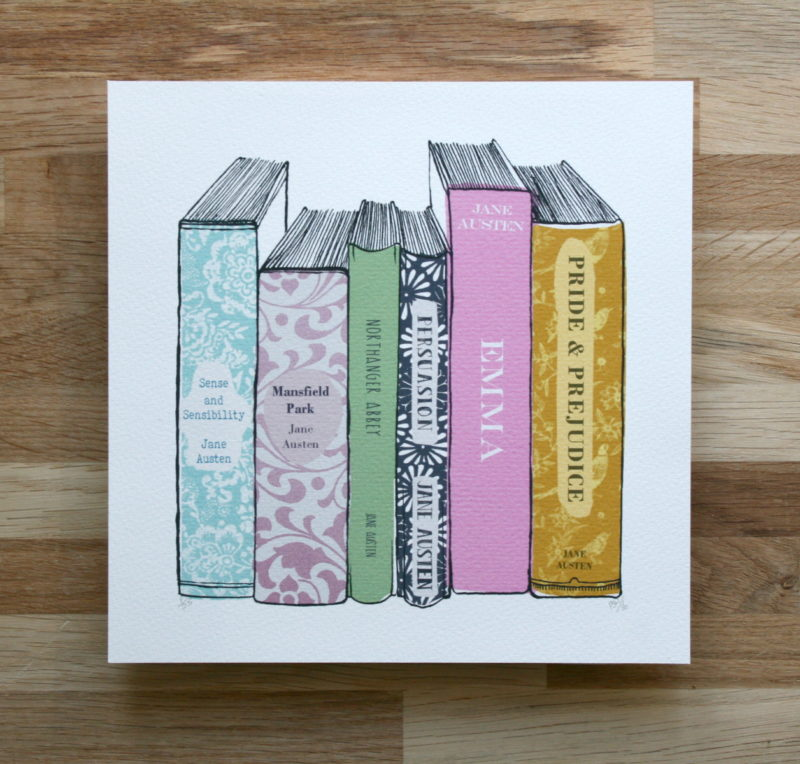 limited edition jane austen literary art print