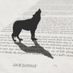 call of the wild literary art print for sale