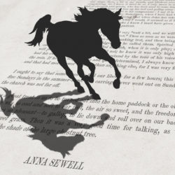black beauty inspired literary artwork