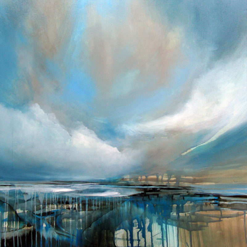 silver lining original painting by alison johnson