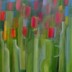 Semi abstract tulips in acrylics