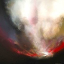 artist sheryl roberts dramatic abstract sky painting