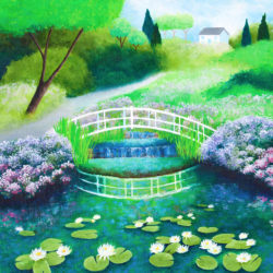 Water Lilies (Framed) by shirley netherton