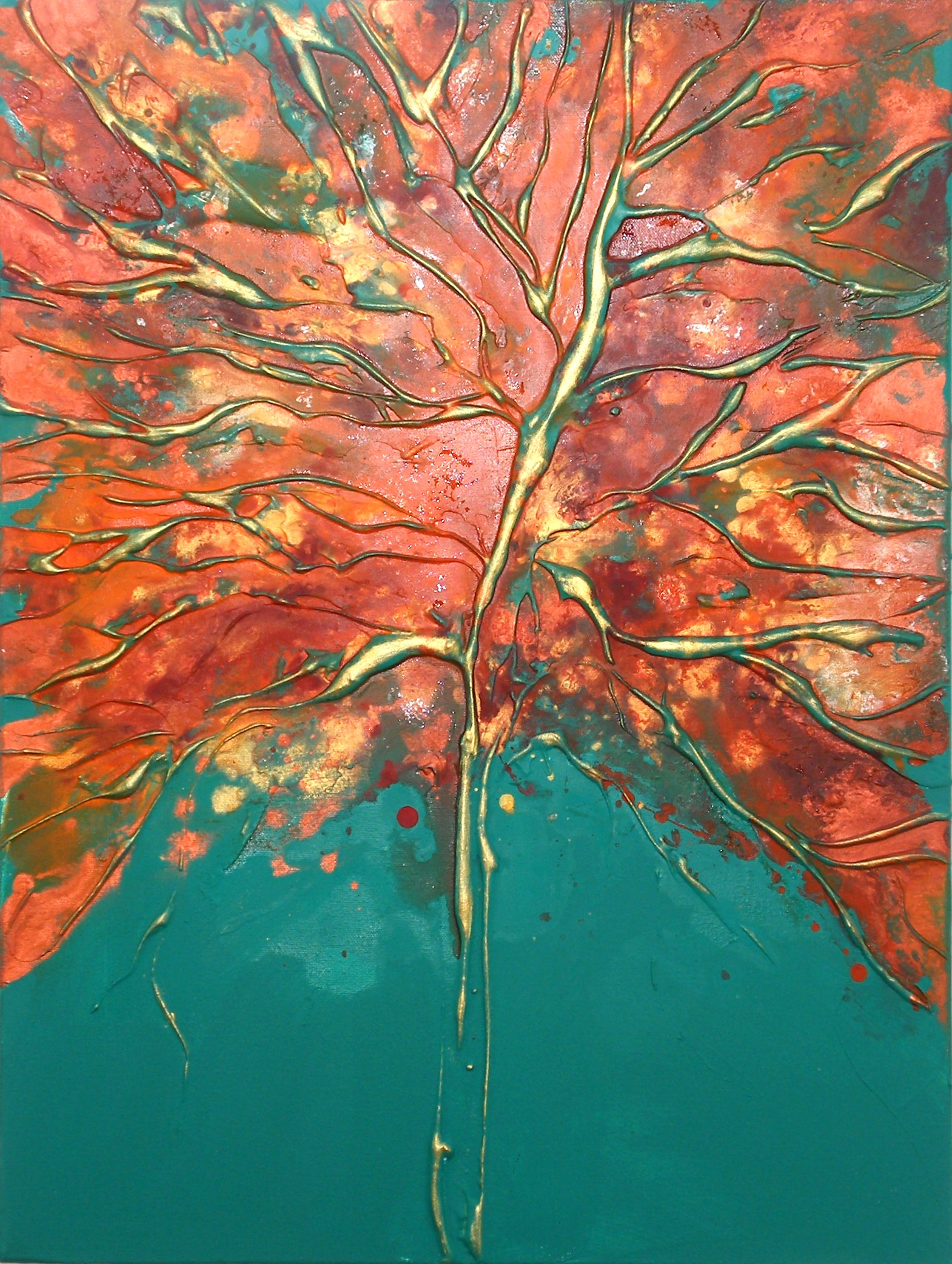 New this is a series of autumnal inspired tree on a deep edged canvas abstract expressionist artworks on 100 cotton canvas stretched over a deep wooden