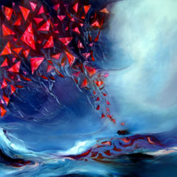 releasing kites original painting by alison johnson