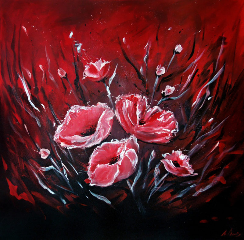 Red Poppy Painitng